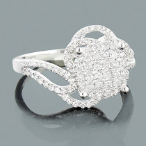 Ladies Diamond Engagement Ring 0.66ct 14K White Gold