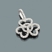 Ladies Diamond Heart Pendant 0.29ct 14K Gold