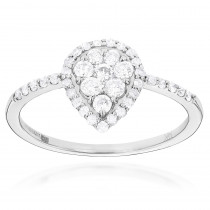 Ladies Diamond Rings 14K Cluster Diamond Ring 0.62ct