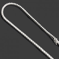 Ladies Diamond Tennis Necklace 8.63ct 18K Gold