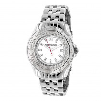 Ladies Diamond Watch 0.25ct By Luxurman White MOP