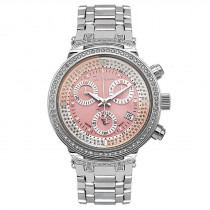 Ladies Diamond Watch 0.90ct Joe Rodeo Master Pink