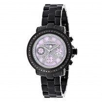 Ladies Diamond Watches: Luxurman Black Diamond Watch 2.15 carats