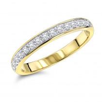 Thin Ladies Diamond Wedding Band 0.3ct 14K Gold Stackable Ring