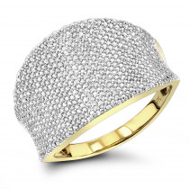 Ladies Pave Diamond Ring 1.25ct 14K Gold