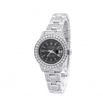 Ladies Rolex Diamond Watch 14.5ct Oyster Perpetual DateJust