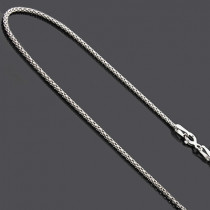 Ladies Sterling Silver Chains: Fancy Box Chain Necklace 16""