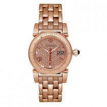 Ladies Watches Diamond Aqua Master Watch Round Rose Gold Plated