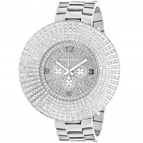 Large Diamond Bezel Luxurman Watch Escalade 14ct Mens Hip Hop Watches