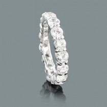 Thin Large Round Diamond Eternity Band 4.50ct 14K Gold Rings