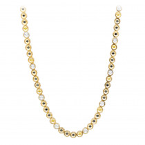 LUXURMAN 10K Gold White Yellow Black Diamond Necklace for Men 5.5ct Chain