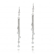 Luxurman 14K Gold Chandelier Earrings With Diamonds By The Yard 1 Carat