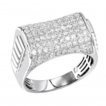 Luxurman 2 carat Mens Diamond Ring 10k Gold Pinky Ring