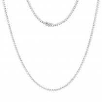 Luxurman Diamond Chains 14k Gold Mens Diamond Tennis Necklace 34in 20ct
