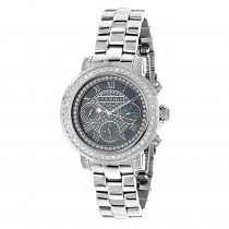 Luxurman Diamond Watches: Plated Platinum Watch 2ct