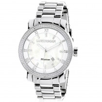 Luxurman Diamond Watches: Mens Diamond Watch 0.12ct