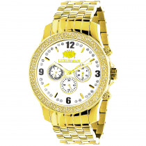 Luxurman Diamond Watches Mens Diamond Watch 0.25ct