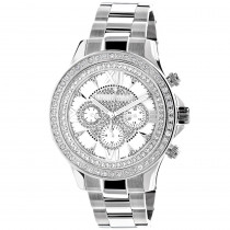 Luxurman Diamond Watches: White Gold Plated Diamond Watch 2ct