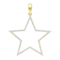 LUXURMAN Large Allure Diamond Five-Pointed Star Pendant in 14K Gold 0.35ct