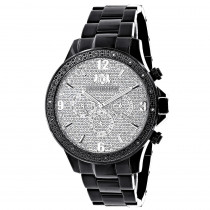 Luxurman Liberty Black Diamond Watch For Men 1/4ct