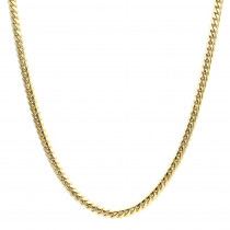 Luxurman Men's Gold Chains Solid 14k Gold Miami Cuban Link Chain 7mm 22-40in