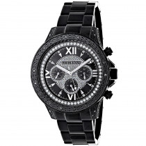 Luxurman Mens Black Diamond Watch 0.5ct
