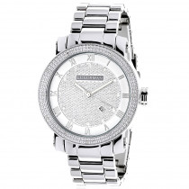 Luxurman Mens Diamond Watch 0.12ct