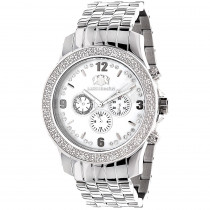 Luxurman Mens Diamond Watch 0.20 ct