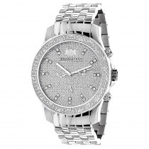 Luxurman Mens Diamond Watch 0.25 ct