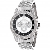 Midsize Luxurman Mens Diamond Watch 0.5ct