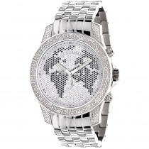 Luxurman Mens Diamond Watch 0.50ct