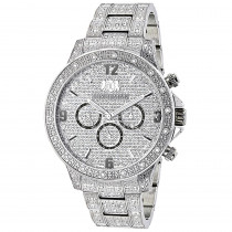 Luxurman Mens Diamond Watches: Swiss Quartz Fully Iced Out Watch 1.25ct