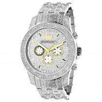Luxurman Mens Watches Genuine Diamond Watch 1.25ct