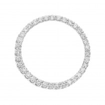 Luxurman Platinum Circle of Life Diamond Pendant for Women 4 Carat Necklace