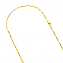 LUXURMAN Solid 10k Gold Curb Chain For Men & Women Gourmette 2mm Wide