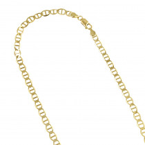 LUXURMAN Solid 10k Gold Mariner Chain For Men & Women 3mm Wide