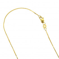 LUXURMAN Solid 14k Gold Box Chain For Men & Women 1.1mm Wide