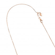 LUXURMAN Solid 14k Gold Box Chain For Women Adjustable 0.7mm