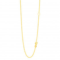 LUXURMAN Solid 14k Gold Cable Chain For Women Extendable 1.5mm Wide