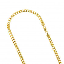 LUXURMAN Solid 14k Gold Cuban Link Chain For Men Miami 6.5mm Wide