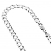 LUXURMAN Solid 14k Gold Curb Chain For Men & Women Comfort 2.6mm Wide