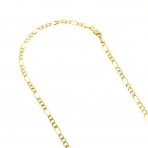 LUXURMAN Solid 14k Gold Figaro Chain For Men & Women 3mm Wide