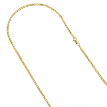 LUXURMAN Solid 14k Gold Mariner Chain For Men & Women 1.7mm Wide