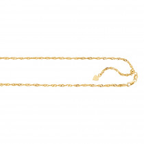 LUXURMAN Solid 14k Gold Singapore Chain For Men & Women 1.1mm Wide