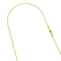 LUXURMAN Solid 14k Gold Wheat Chain For Women 0.6mm Wide
