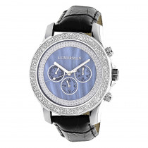 Luxurman Watches Mens Diamond Watch 0.25ct Blue MOP