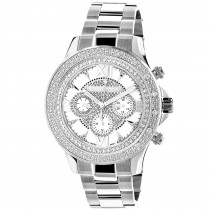 Luxurman Watches: Mens Diamond Watch 0.2ct White MOP