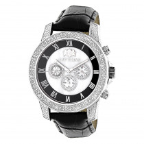 Luxurman Watches Mens Diamond Watch 0.50ct Freeze