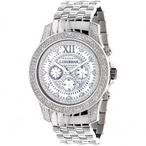 Luxurman Watches: Mens Diamond Watch 0.50ct