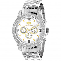 Luxurman Watches Mens Diamond Watch 0.50ct